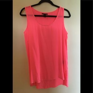 [forever 21] neon pink studded tank top (Size: M)